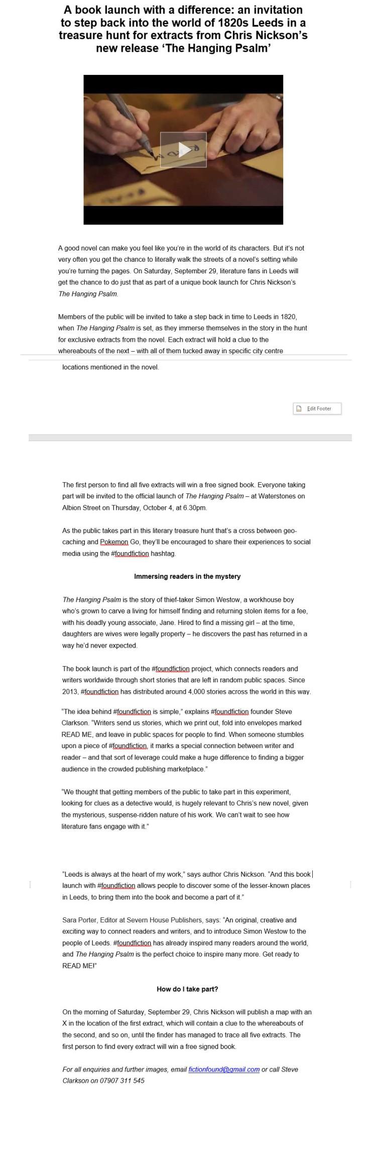HP Press Release