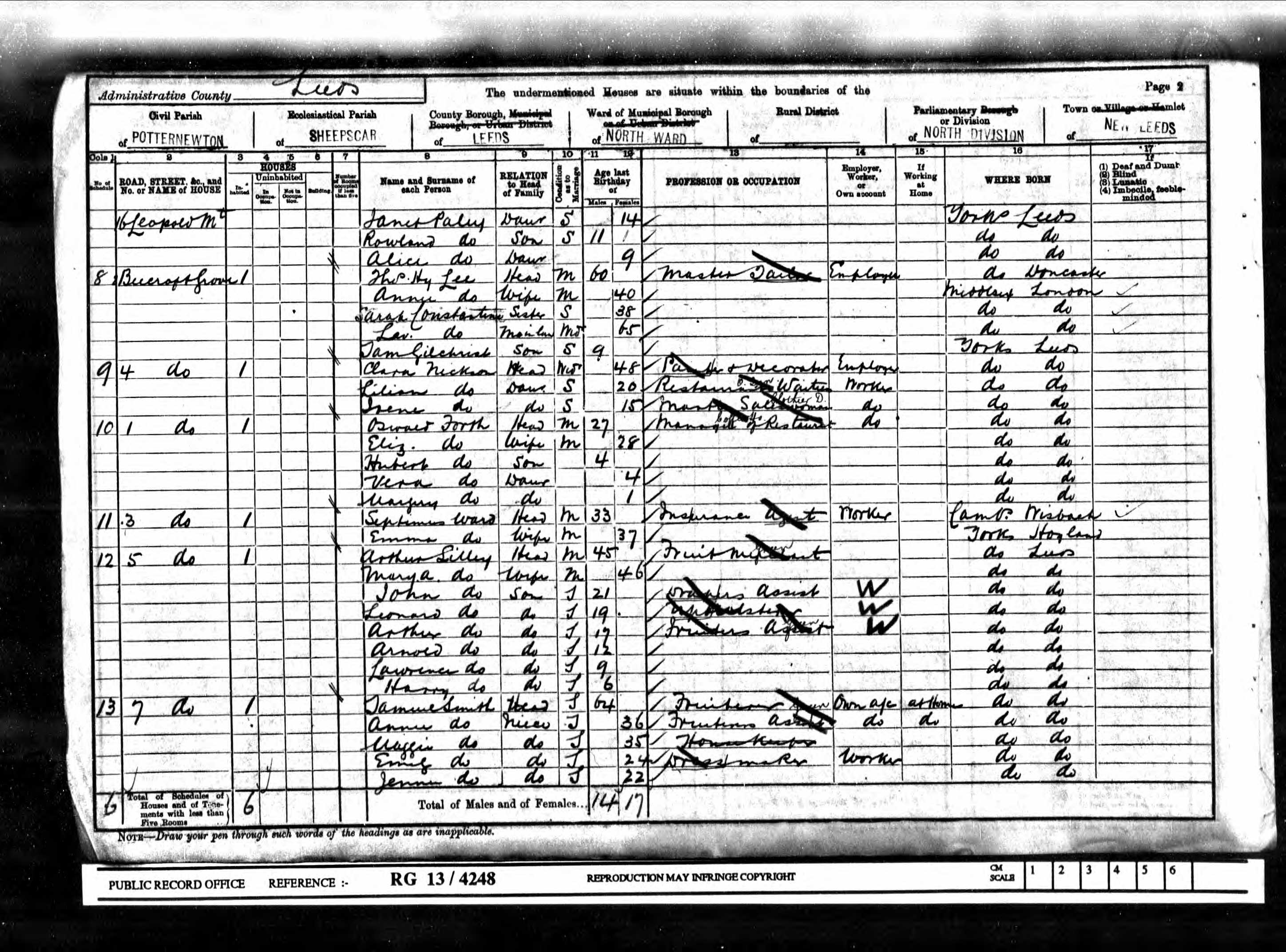 Lilian Nickson 1901 census
